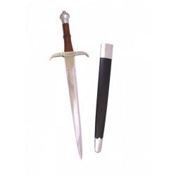 Dague médiévale fourreau noir
