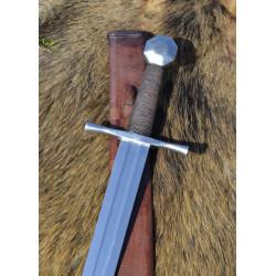Épée croisée 13s avec fourreau, pommeau octogonal, prête au combat