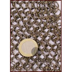Haubergeon anneaux ronds rivetés acier naturel