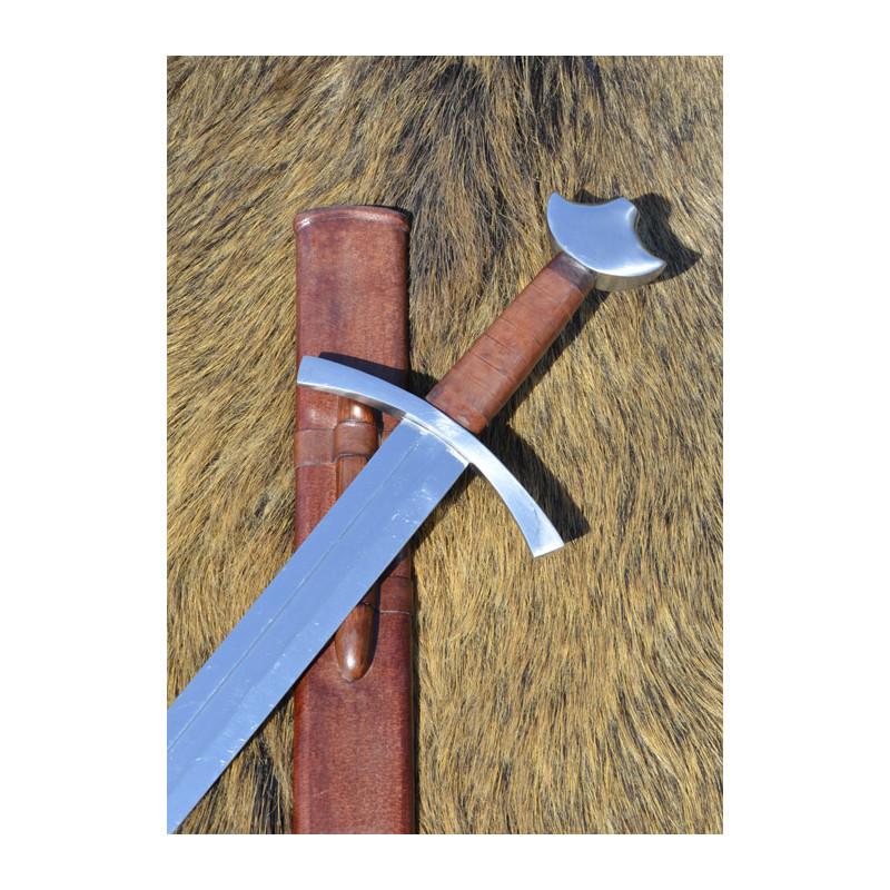 Épée médiévale avec fourreau, contondant pratique, SK-A