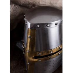 Grand heaume templier acier 1.6mm