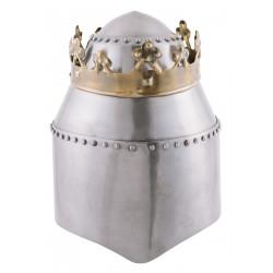 Grand casque royal avec couronne, acier 1,6 mm