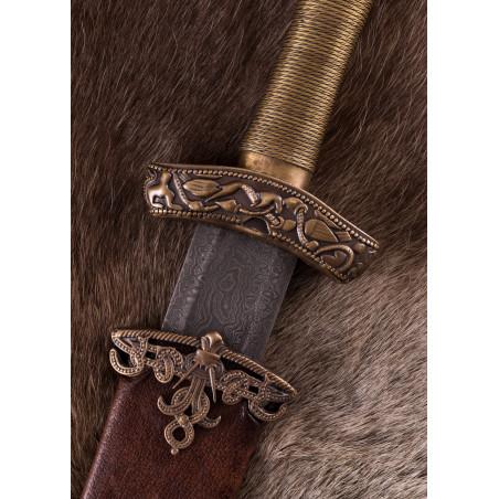 Épée viking en Dybäck avec fourreau, acier Damas