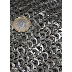 Cotte de mailles haubert, anneaux plats 8 mm riveté