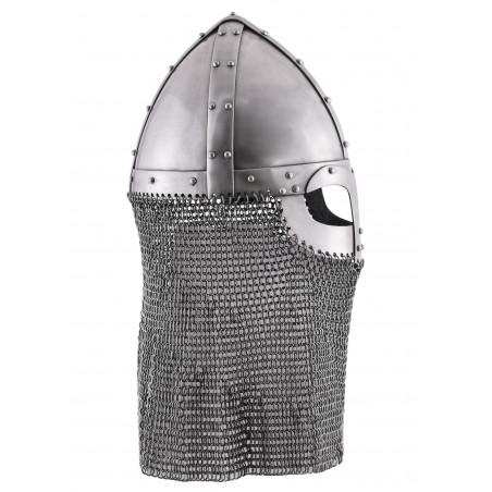 Casque viking style spangen avec camail