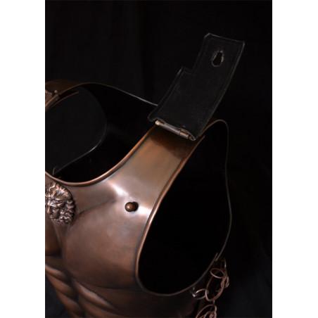 Armure spartiate enacier finition en bronze