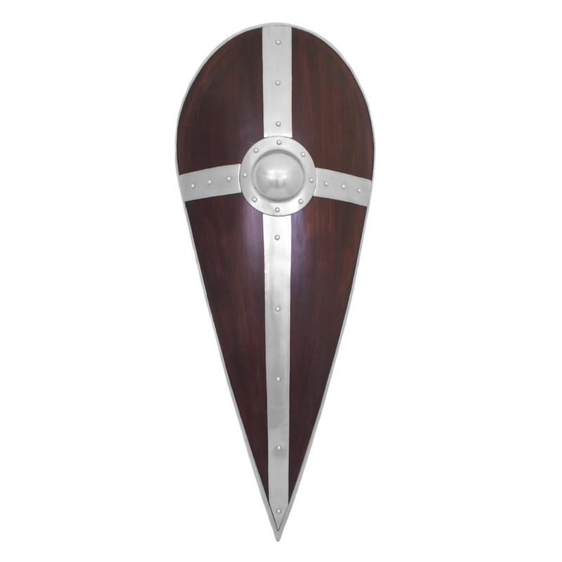 Bouclier normand avec croix