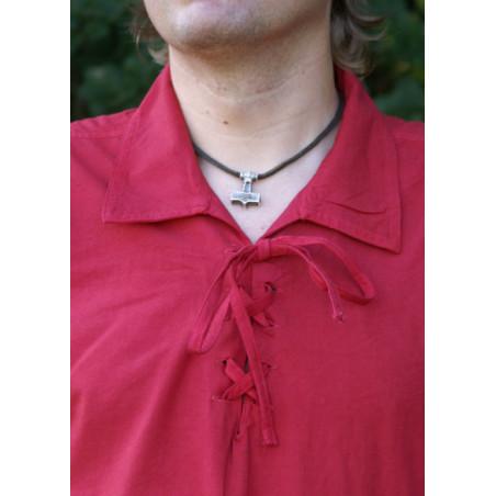 Chemise en coton, rouge