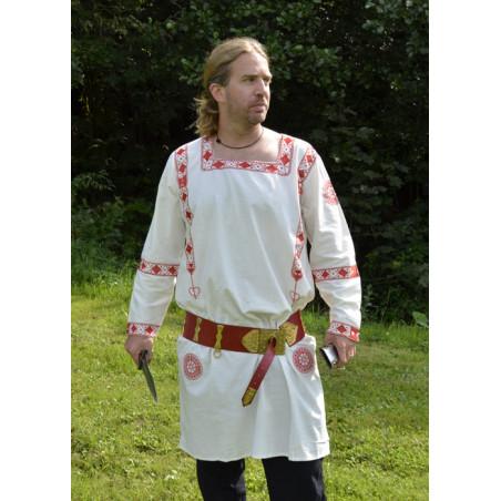 Tunique romaine, brodée en rouge