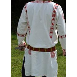 Tunique romaine Manicata, brodée en rouge