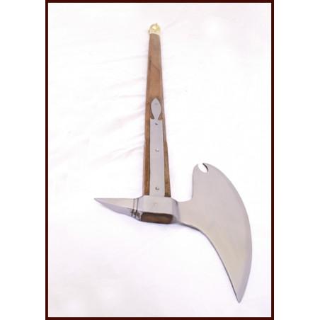 Hache de combat avec manche en bois