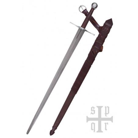 Épée Bâtarde médiévale prête au combat