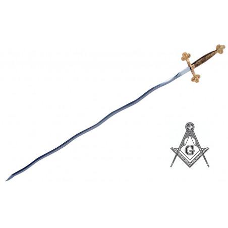 Epée flamboyante Franc Maçon