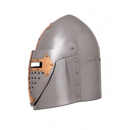 Heaume de croisé du XIVème siècle acier poli